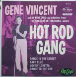 "45 EP ✦ GENE VINCENT ✦ ""Hot Rod Gang"" -Killer Rare Rockabilly Repro Awesome Cover"